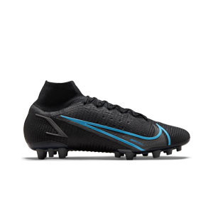 Nike Mercurial Superfly 8 Elite AG - Botas de fútbol con tobillera Nike AG para césped artificial - negras