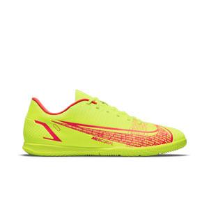 Nike Mercurial Vapor 14 Club IC - Zapatillas de fútbol sala Nike suela lisa IC - amarillas flúor, rojas