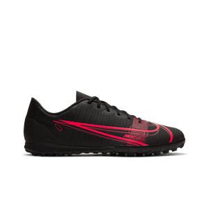 Nike Mercurial Vapor 14 Club TF - Zapatillas de fútbol multitaco Nike suela turf - negras - derecho