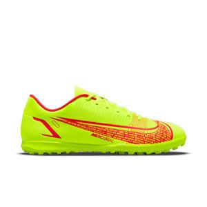 Nike Mercurial Vapor 14 Club TF - Zapatillas de fútbol sala con tobillera Nike suela lisa IC - amarillas flúor, rojas