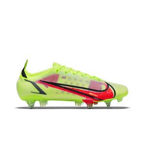 Nike Mercurial Vapor 14 Elite SG-PRO AC - Botas de fútbol Nike SG-PRO con tacos de alúminio para césped natural blando - amarillas fluor, rojas