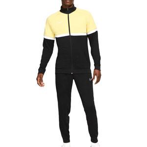 Chándal Nike Dri-Fit Academy I96 - Chándal de entrenamiento de fútbol Nike - negro y amarillo - frontal
