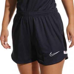 Short Nike Dri-Fit Academy 21 mujer - Pantalón corto de entrenamiento de fútbol para mujer Nike - azul marino