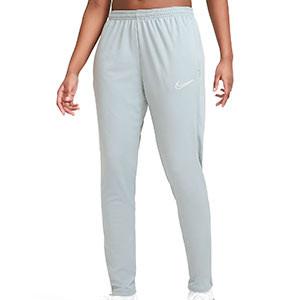 Pantalón Nike Dri-Fit Academy 21 mujer - Pantalón largo de mujer para entrenamiento de fútbol Nike - gris - frontal