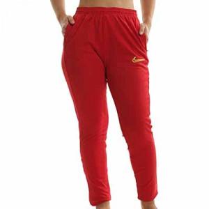 Pantalón Nike Dri-Fit Academy 21 mujer - Pantalón largo de fútbol para mujer Nike - rojo