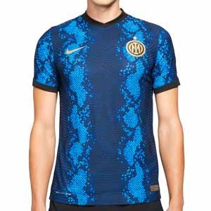 Camiseta Nike Inter 2021 2022 Dri-Fit ADV Match - Camiseta auténtica primera equipación Nike del Inter de Milán 2021 2022 - azul y negra
