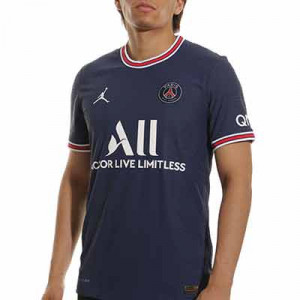 Camiseta Nike PSG x Jordan 2021 2022 Dri-Fit ADV Match - Camiseta auténtica primera equipación Nike x Jordan del París Saint-Germain 2021 2022 - azul marino - frontal