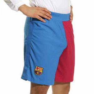 Short Nike Barcelona 2021 2022 Dri-Fit ADV Match - Pantalón corto auténtico primera equipación Nike del FC Barcelona 2021 2022 - azulgrana - completa frontal