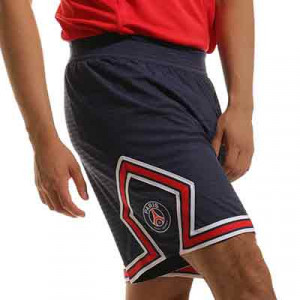 Short Nike PSG x Jordan 2021 2022 Dri-Fit ADV Match - Pantalón corto auténtico primera equipación Nike x Jordan del París Saint-Germain 2021 2022 - azul marino - frontal