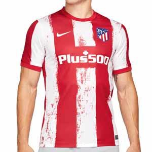 Camiseta Nike Atlético 2021 2022 Dri-Fit Stadium - Camiseta primera equipación Nike del Atlético Madrid 2021 2022 - roja y blanca