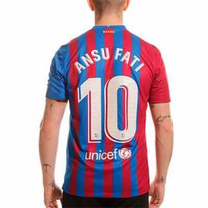 Camiseta Nike Barcelona 2021 2022 Messi Stadium - Camiseta primera equipación de Lionel Messi Nike del FC Barcelona 2021 2022 - azulgrana