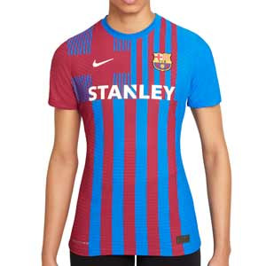Camiseta Nike Barcelona 2021 2022 mujer Dri-Fit ADV Match - Camiseta auténtica primera equipación mujer Nike del FC Barcelona 2021 2022 - azulgrana - completa frontal