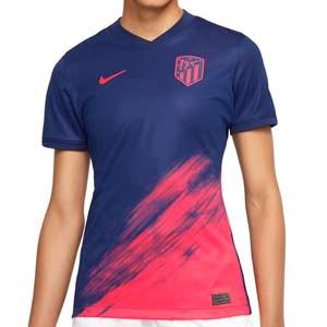 Camiseta Nike 2a Atlético mujer 21 2022 Dri-Fit Stadium - Camiseta de mujer segunda equipación Nike del Atlético de Madrid 2021 2022 - azul marino, rosa