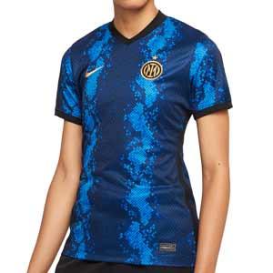 Camiseta Nike Inter mujer 2021 2022 Dri-Fit Stadium - Camiseta primera equipación de mujer Nike del Inter de Milán 2021 2022 - azul y negra