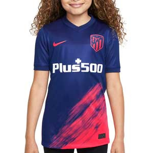 Camiseta Nike 2a Atlético 21 2022 niño Dri-Fit Stadium - Camiseta segunda equipación infantil Nike del Atlético de Madrid 2021 2022 - azul marino, rosa