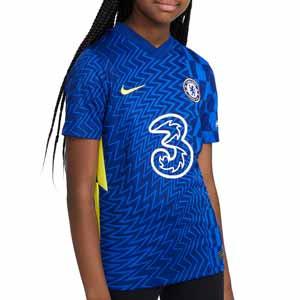 Camiseta Nike Chelsea 2021 2022 niño Dri-Fit Stadium - Camiseta primera equipación infantil Nike Chelsea FC 2021 2022 - azul - frontal