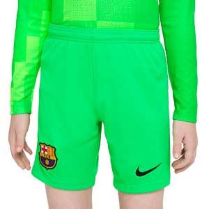 Short Nike Barcelona portero 2021 2022 niño Stadium - Pantalón corto infantil de portero Nike del FC Barcelona 2021 2022 - verde
