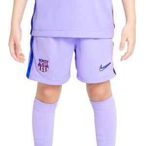 Short Nike 2a Barcelona 2021 2022 niño Dri-Fit Stadium - Pantalón corto infantil segunda equipación Nike del FC Barcelona 2021 2022 - lila