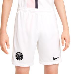 Short Nike 2a PSG 2021 2022 niño Dri-Fit Stadium - Pantalón corto segunda equipación infantil Nike del París Saint-Germain 2021 2022 - blanco