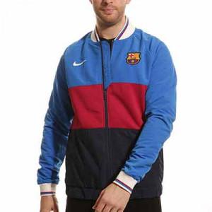 Chaqueta Nike Barcelona Dri-Fit I96 himno Woven - Chaqueta chándal himno Nike Barcelona - azulgrana