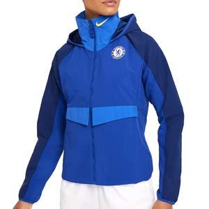 Cortavientos Nike Chelsea mujer Dri-Fit All Weather Fan - Chaqueta cortavientos de mujer Nike del Chelsea FC - azul