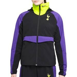 Cortavientos Nike Tottenham mujer All Weather Fan - Chaqueta cortavientos Nike del Tottenham HFC - negra, lila