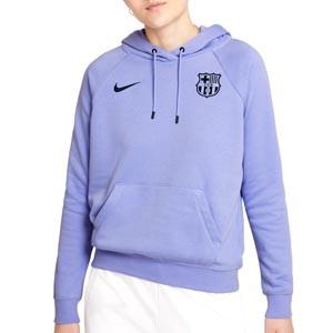 Sudadera Nike Barcelona mujer Essential Hoodie Fleece - Sudadera de algodón con capucha de mujer Nike del FC Barcelona - lila