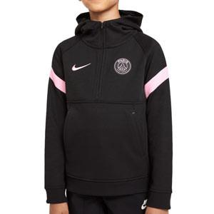 Sudadera Nike PSG niño Travel Fleece Hoodie - Sudadera con capucha de paseo infantil Nike del París Saint-Germain - negra