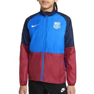 Cortavientos Nike Barcelona Repel Academy niño - Chaqueta cortavientos infantil Nike del FC Barcelona - azulgrana
