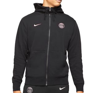 Sudadera Nike PSG Club Hoodie - Sudadera con capucha de algodón Nike del París Saint-Germain - negra