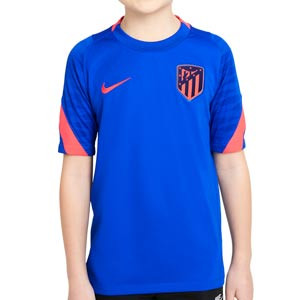 Camiseta Nike Atlético entrenamiento niño Dri-fit Strike - Camiseta de manga corta infantil de entrenamiento Nike del Atlético de Madrid - azul