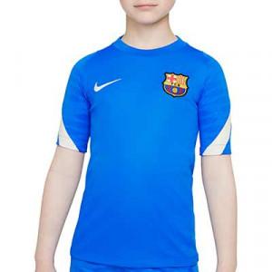 Camiseta Nike Barcelona entrenamiento niño Dri-Fit Strike - Camiseta de entrenamiento infantil Nike del FC Barcelona - azul - completa frontal