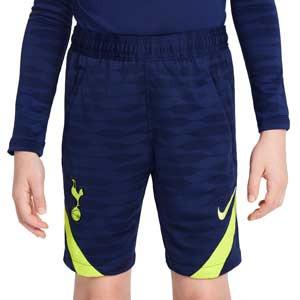 Short Nike Tottenham niño entrenamiento Dri-Fit Strike - Pantalón corto infantil de entrenamiento Nike del Tottenham Hotspur - azul marino
