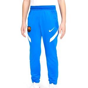 Pantalón Nike Barcelona entrenamiento niño Dri-Fit Strike - Pantalón largo de entrenamiento infantil Nike del FC Barcelona - azul - completa frontal