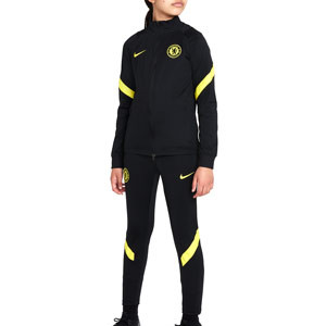 Chándal Nike Chelsea entrenamiento niño Dri-Fit Strike - Chándal infantil de entrenamiento Nike del Chelsea FC - negro
