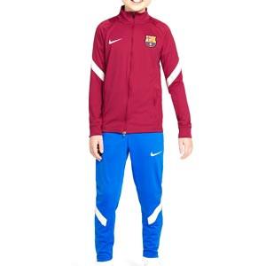 Chándal Nike Barcelona niño Dri-Fit Strike - Chándal de fútbol infantil Nike del FC Barcelona - azulgrana