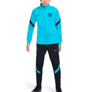 Chándal Nike Inter niño Dri-Fit Strike - Chándal infantil Nike del Inter de Milán - verde azulado y negro