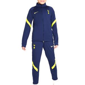 Chándal Nike Tottenham niño Strike - Chándal infantil Nike del Tottenham Hotspur - azul marino - frontal