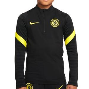 Sudadera Nike Chelsea entrenamiento niño Dri-Fit Strike - Sudadera infantil de entrenamiento Nike del Chelsea FC - negra