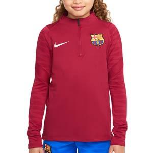 Sudadera Nike Barcelona entrenamiento niño Strike - Sudadera infantil de entrenamiento Nike del FC Barcelona - granate
