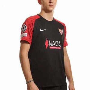 Camiseta Nike 3a Sevilla 2021 2022 UCL - Camiseta tercera equipación Nike del Sevilla FC de la Champions 2021 2022 - negra