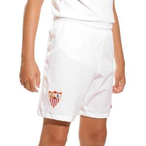 Short Nike Sevilla niño 2021 2022 - Pantalón corto infantil primera equipación Nike Sevilla FC 2021 2022 - blanco