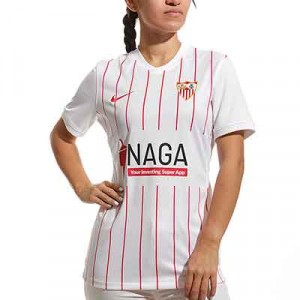 Camiseta Nike Sevilla mujer 2021 2022 - Camiseta primera equipación de mujer Nike del Sevilla FC 2021 2022 - blanca