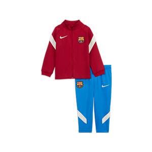 Chándal Nike Barcelona bebé 3 - 36 meses Dri-Fit Strike - Chándal bebé de 3 a 36 meses Nike del FC Barcelona - azulgrana