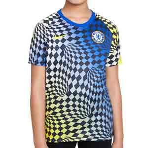 Camiseta Nike Chelsea niño pre-match  - Camiseta de calentamiento pre-partido Nike del Chelsea FC infantil- azul