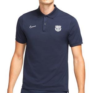 Polo Nike Barcelona Slim - Polo Nike del FC Barcelona - azul marino