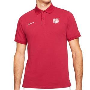 Polo Nike Barcelona Slim - Polo Nike del FC Barcelona - rojo - frontal