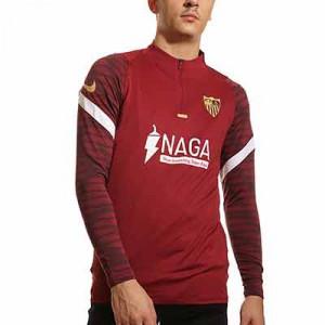 Sudadera Nike Sevilla entrenamiento - Sudadera de entrenamiento Nike del Sevilla FC - roja
