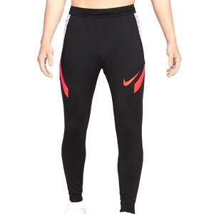 Pantalón Nike Dri-Fit Strike 21 - Pantalón largo de entrenamiento de fútbol Nike - negro, rojo