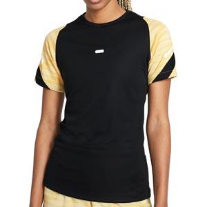 Camiseta Nike Dri-Fit Strike 21 mujer - Camiseta de entrenamiento de fútbol para mujer Nike - negra - frontal
